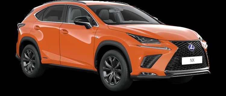 NX 300h E-FOUR F SPORT Edition 2020 / Lava orange metalik